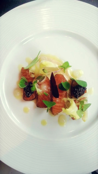 Earl Grey Tea cured Salmon