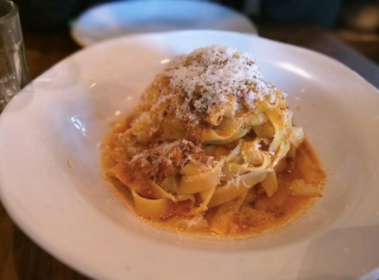 Tagliatelle Bolognese -Gennaro's original pork & beef Bolognese recipe, slow-cooked & served with herby breadcrumbs & Parmesan